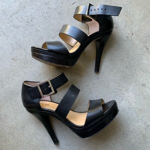 Michael Kors MK black heels worn 1x like NEW